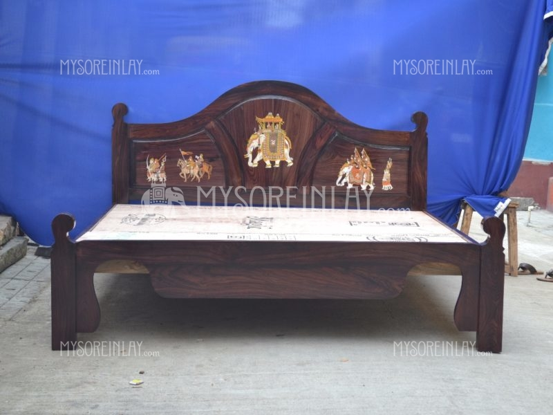 Rosewood Inlay Cot