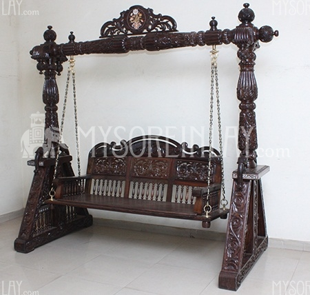 Rosewood Carved Jhula