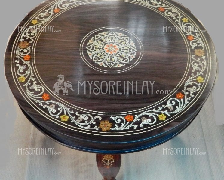 Rosewood Round Teapoy